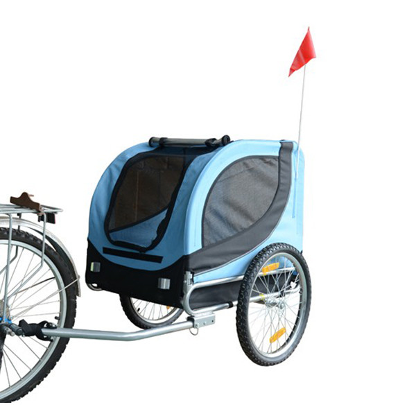New 2in1 Bicycle Bike Dog Cat Pet Trailer Carrier Pet Stroller