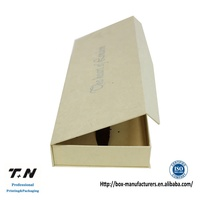 Luxury gold bespoke magnetic gift box packaging cardboard
