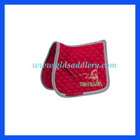 Beautiful Horse Racing Saddle Pad with crystal