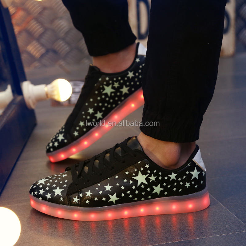 Factory direct selling rechargeable led light shoes for men