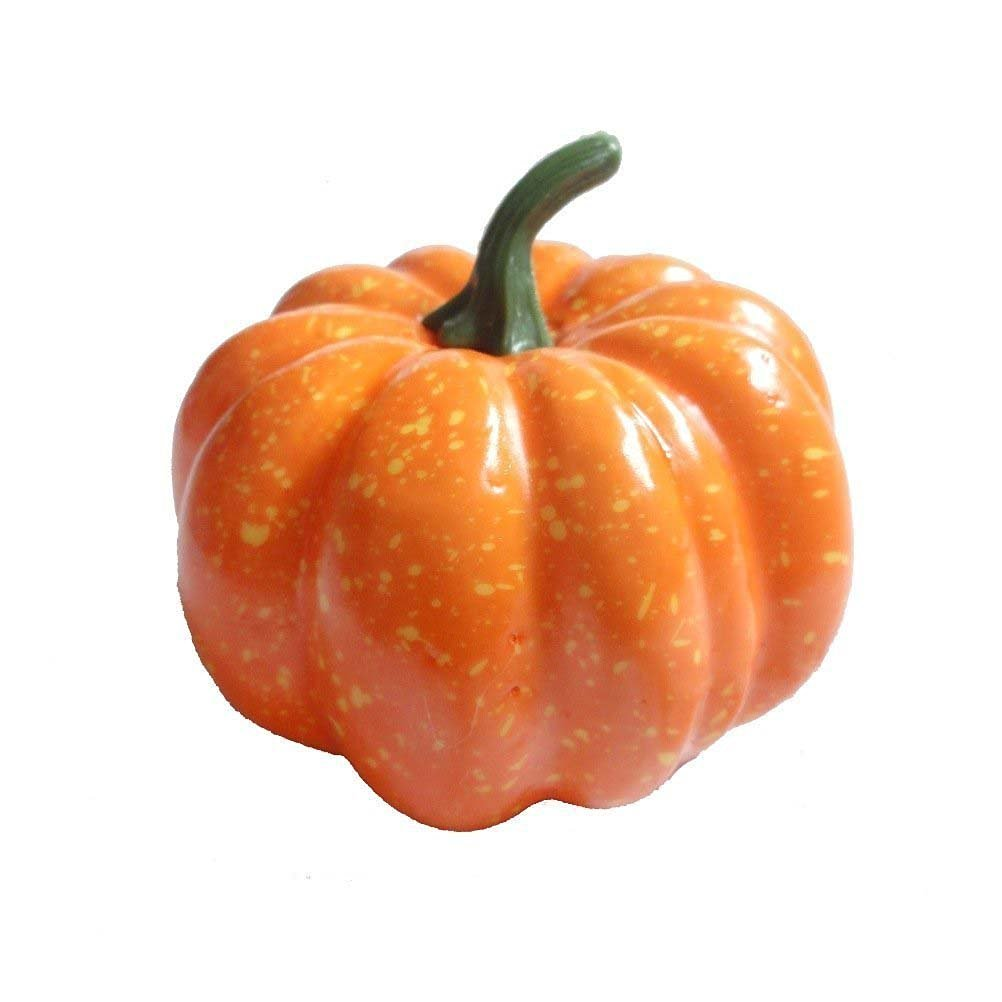 Tinksky 12pcs Artificial Pumpkins for Halloween / Thanksgiving / Fall Weddings Decoration Yellow