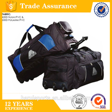 Factory made large capacity duffel bag with wheels, durable sport travel trolly bag
