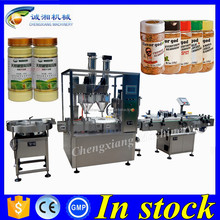 High speed 30g labeling and filling,jar powder filling packaging machines
