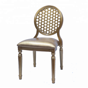 Unique stackable aluminum royal wedding colored ghost chair for rental