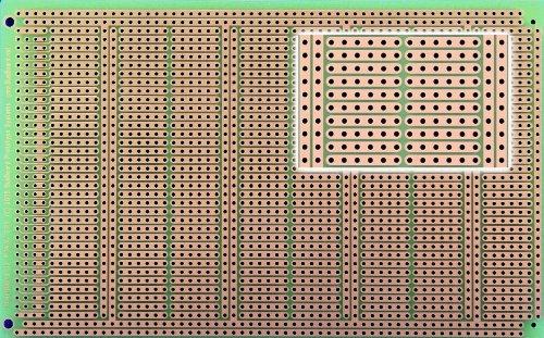 POW3U PowerBoard-3U with Power Rails, 1 Sided PCB, 3.94 x 6.30 in (100 x 160 mm)