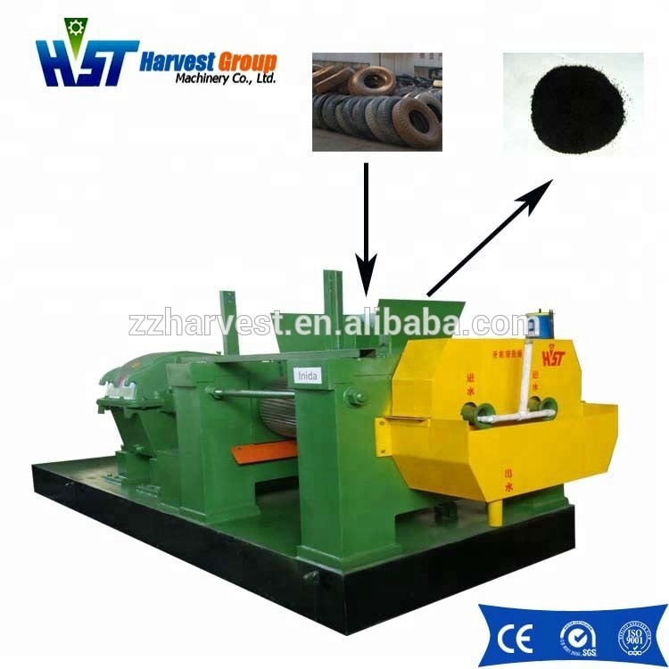 Waste tire/rubber raw material cutting machines