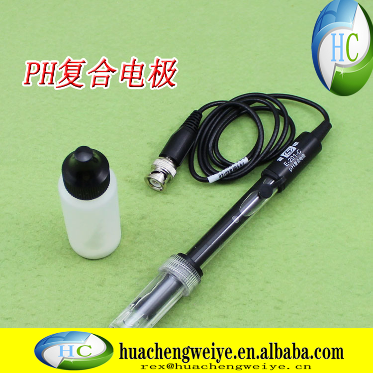 Shanghai Lei magnetic pH composite electrode E201C rechargeable test acid - base detection acid