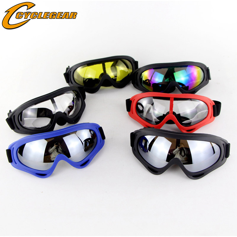 Safety Goggles Outdoor Cycling Protective Goggles Windproof Ski Glasses Bendable Fog-proof Skiing Goggles With Elastic Headband Hot Sales