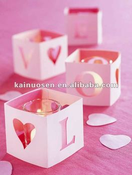 Romantic heart shaped valentine candles holder