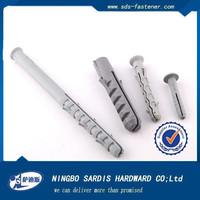 PE nylon plastic expansion anchors/wall plugs