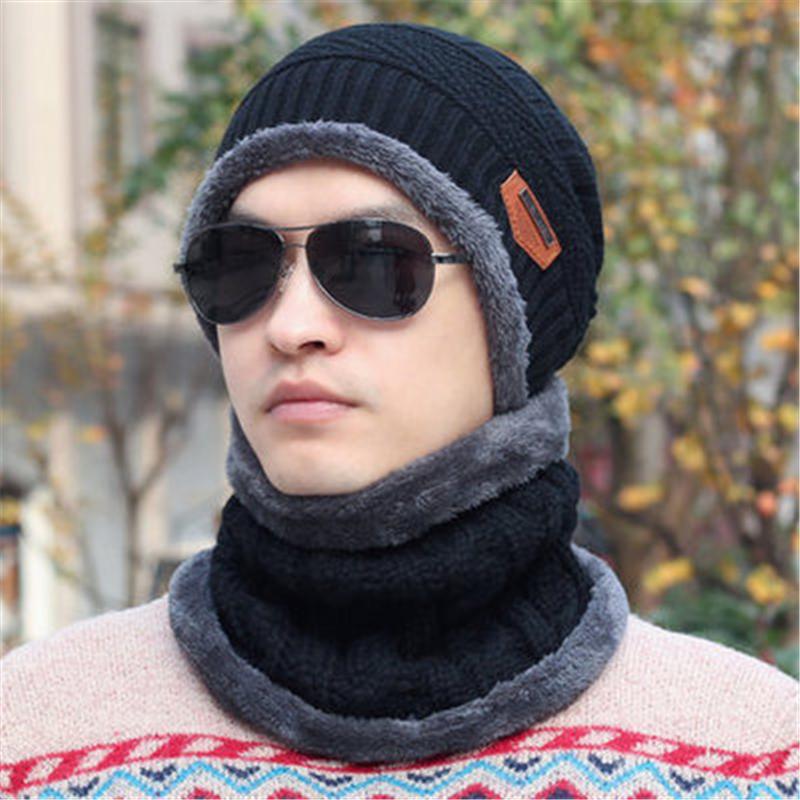 2018 мужчины шапочки вязаная шапка зимняя для человека вязаная шапка мальчики