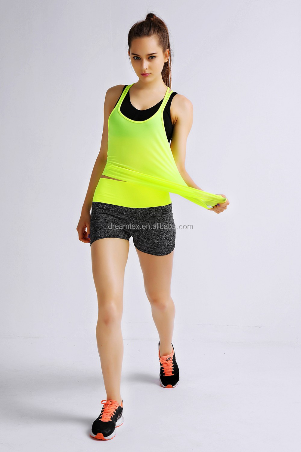 Ebay high quality custom design yoga gym women fitness tank top