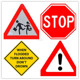 customizable durable aluminum road sign triangle traffic sign