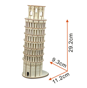Oray World Famous Building DIY 3D Wooden Jigsaw Model Construction Kit Kids Children Puzzle Toy Gift