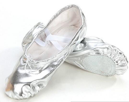 e9cd157ce50 Gold silver Size23~44 children soft sole girls ballet shoes Women Ballet  Dance Shoes for kids adult ladies