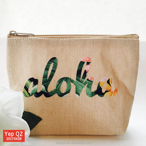 Germany hot sale summer recycled jute contents cosmetic bag