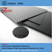 3K carbon fiber sheet/plate for car used in aviation model, car model, medical equipment 400*500mm*5mm
