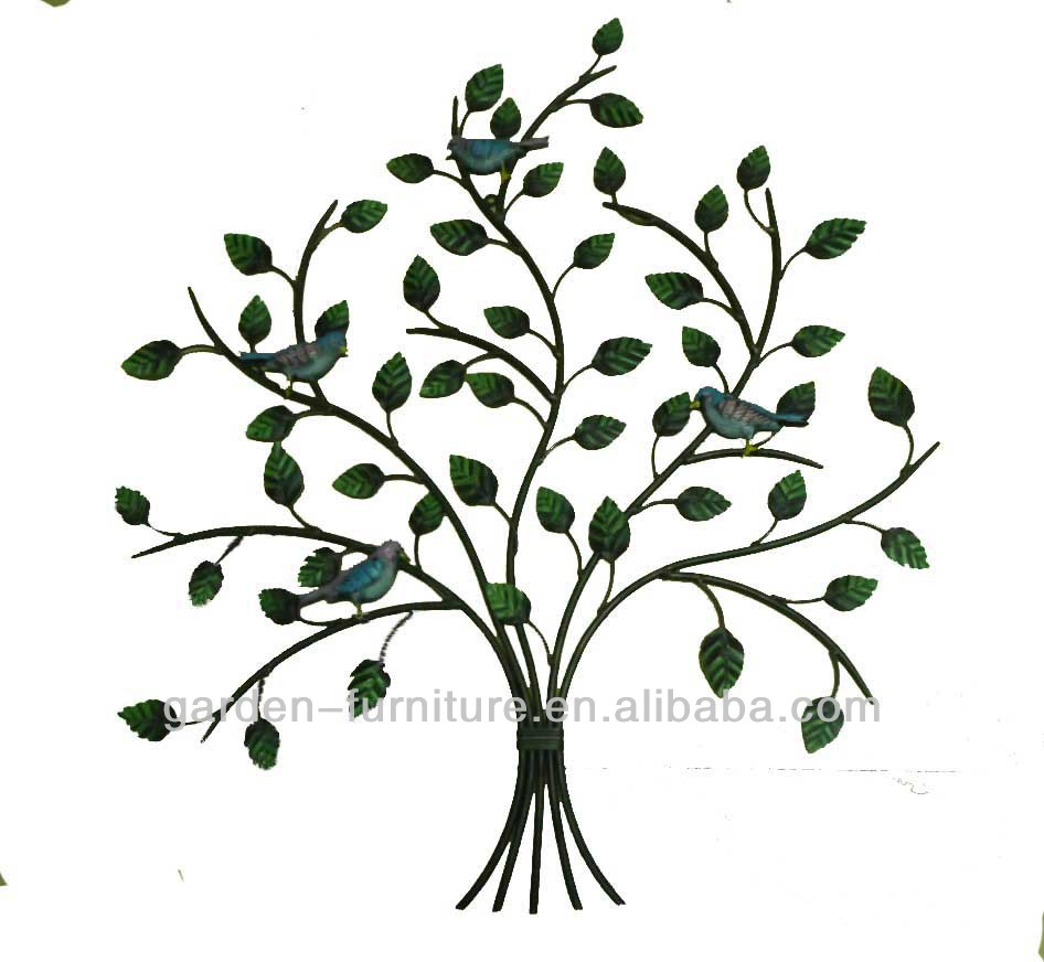 Wrought Iron Art Home Decor Wall Metal Tree And Bird Handicraft Of Life Product On Alibaba