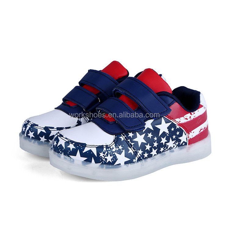 New Arrival Kids Led Flashing Lighting Up Shoes