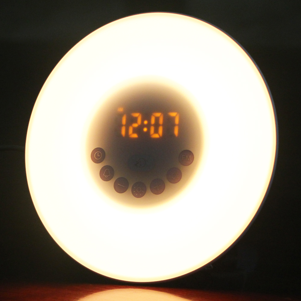 2019 Mattina Wake Up Light Alba Simulazione Snooze Alarm Clock