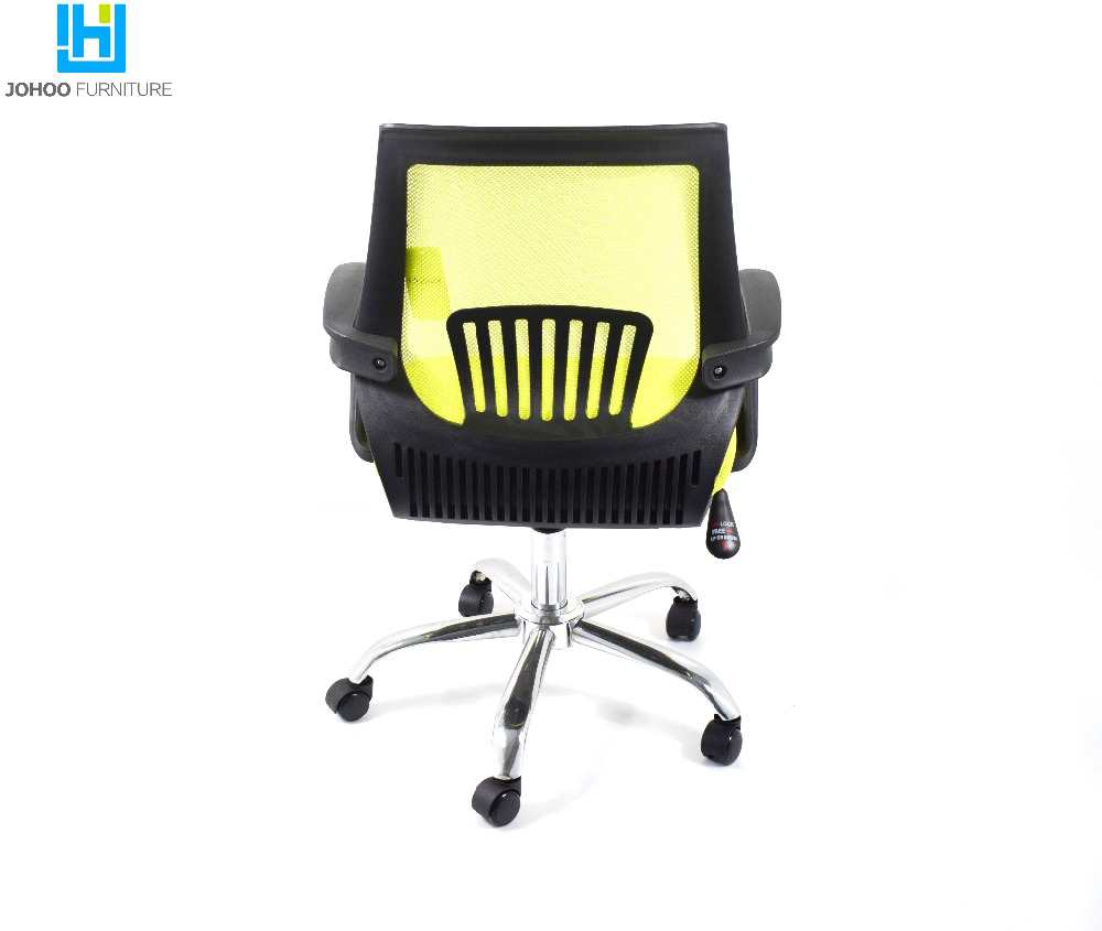 Factory price High quality chrome wheel base heated swivel mesh office chair