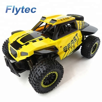 Flytec RC Truck Car SL - 146A Rock Off - Road Racing Vehicle Crawler Truck 2.4Ghz Remote Car (Yellow)