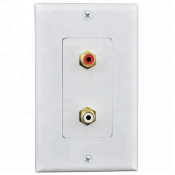 1-Gang  2-3-4-5 portscrew RCA audio Speaker decorative keystone  Home Theater Wall face Plate