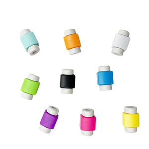 New products solid color mobile phone data cable protector Charging cable USB cable protector