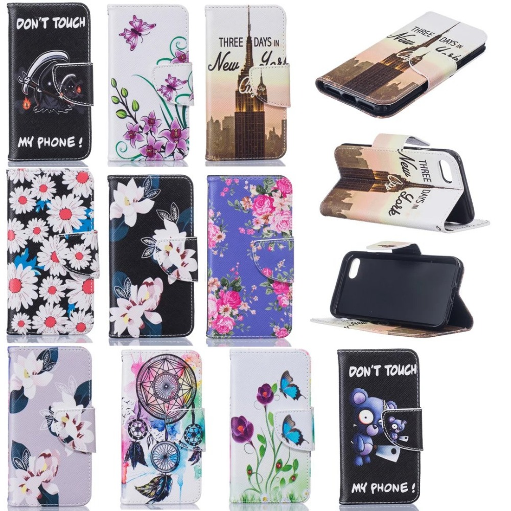 Stand Flip Leather Wallet Case Cover Card Slot FLOWER printed Pattern flip case For <strong>iphone</strong> 7 6 PLUS <strong>iPhone</strong> 4 5 5C 6 6Plus