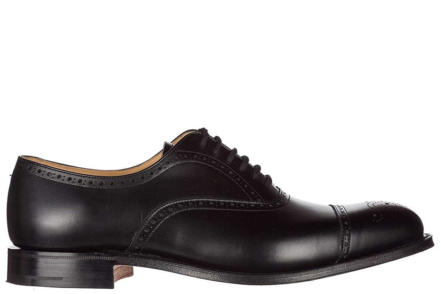 Amblers Mens Liverpool Lace Leather Oxford Brogue Style Shoe