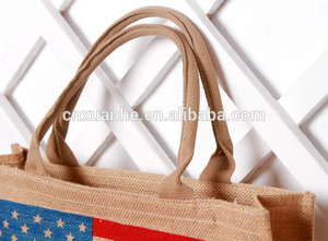 High quality network cotton jute tote shopping bags