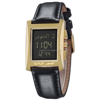 Arabic Digital Muslim Prayer Watch with Genuine Leather Belt for wholesale