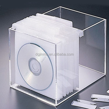 Offer Clear Acrylic Dvd Storage Box , Cd Drawer Box Holder Compartment Box