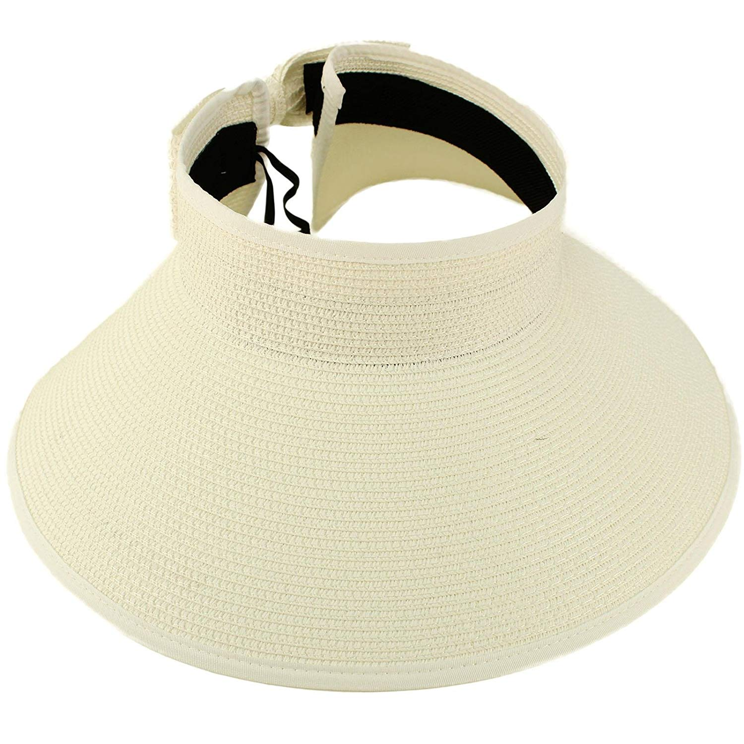 UPF UV Sun Protection Quote Rollable Travel Wide Brim Visor Beach Pool Hat