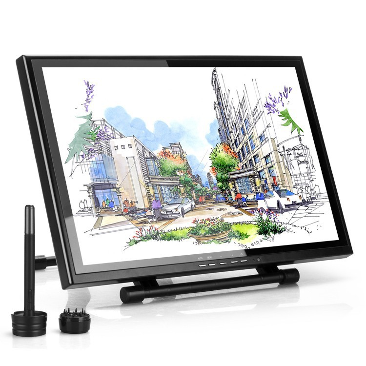 Wholesale-Ugee UG-1910B 19 LCD Monitor Art Graphic Drawing Tablet Parblo  A610(Ugee M708) Graphic Tablet Board Pad as Huion GT-190