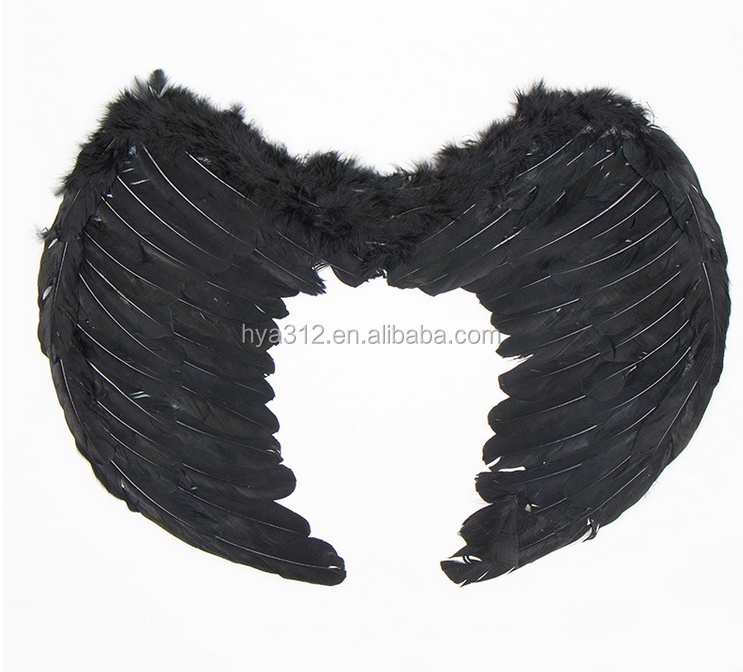 black Feather Wings Angel wing