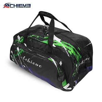 Sublimation custom fashion hockey sports bag with shoe compartment
