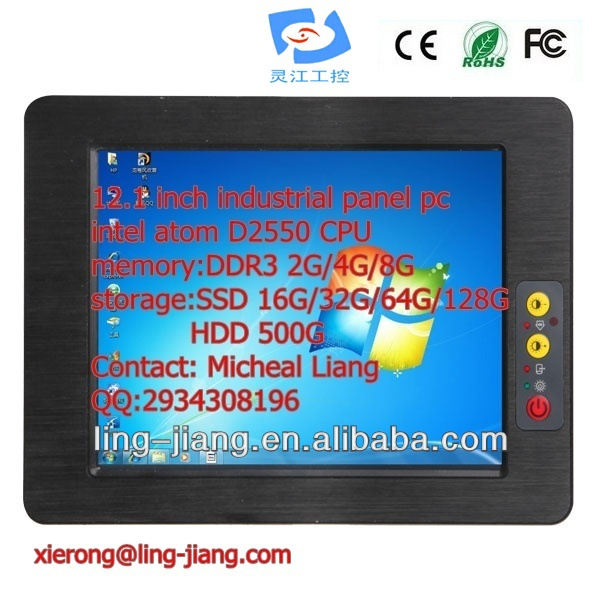12.1 inch fanless low power consumption industrial <strong>tablet</strong> (PPC-121C), with wide mPCI-E port, supports wifi / 3G module / GPR