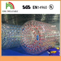 Crazy Water Game Colored PVC TPU Inflatable Water Roller Zorb Aqua Rolling Ball