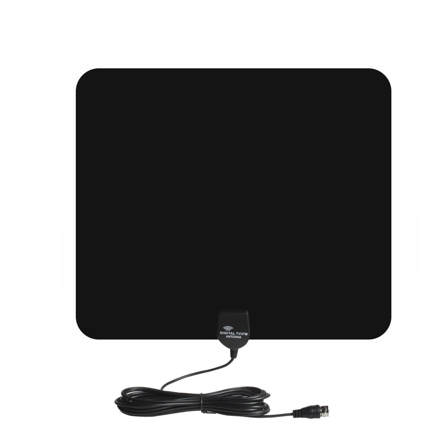 YaphteS 35 Miles Range HDTV Antenna - Super Thin HDTV Indoor Antenna-16.4ft Coax Cable - the Highest Performance and Longest Reception with the Best Price( Black)