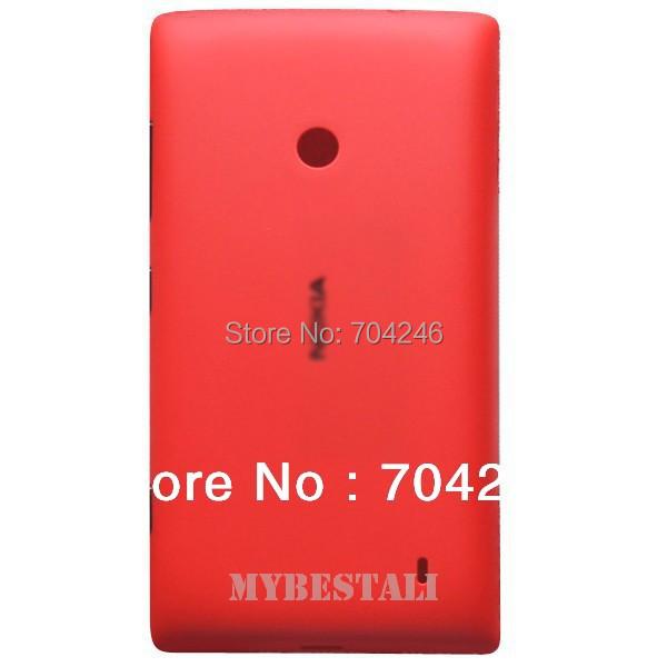 Новый бесплатная доставка высокое качество красный назад корпус крышка батарейного отсека задняя крышка чехол замена для Lumia 520 525 запасных частей