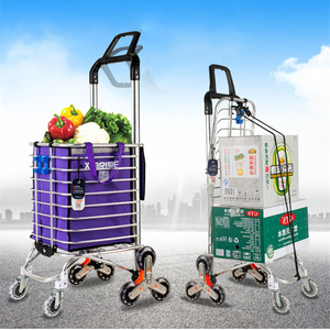 Chinese supplier multi-function supermarket folding shopping trolley