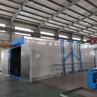 Powder coating oven for natural gas