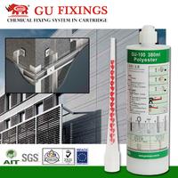 For fixing facades high bearing capacity adhesive anchoring system