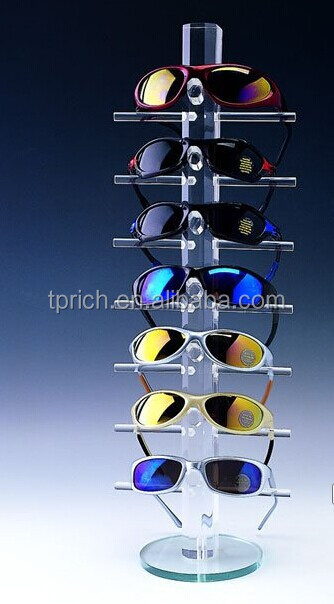 new design customised modern acrylic sunglass eyeglasses display shelf