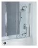Tempered glass acrylic shower door