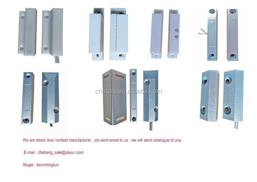 Surface mounted magnetic door contacts