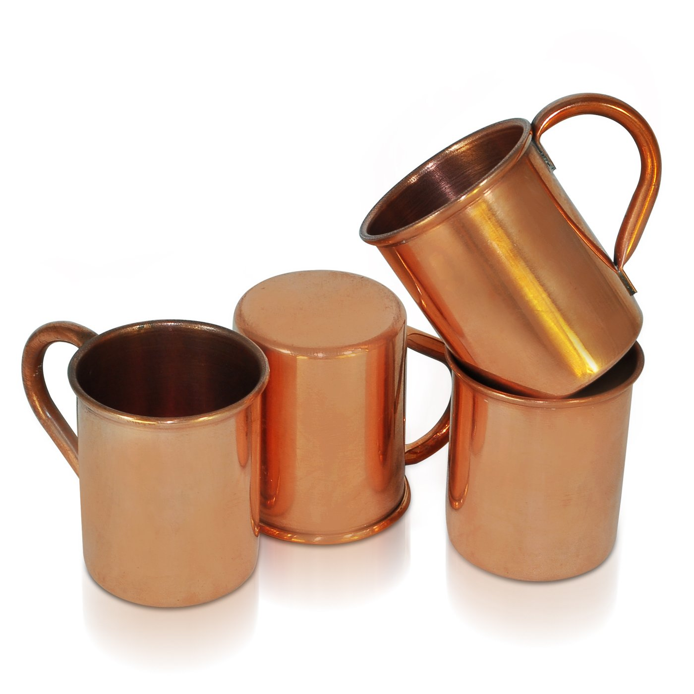 Dungri India Craft 100 % Pure copper Plain SHOT Moscow Mule Mug - ( Capacity- 70 ML / 2.3 oz ) , Set of 16 -Cocktail SHOT MUG