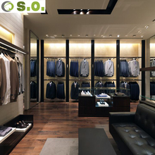 Custom High-end Man Clothing Shop Interior Display Stands Design Retail Clothing Store Furniture