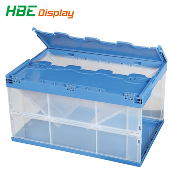 Plastic Foldable Container One Side Opening With Lids - Buy Plastic  Foldable Container,Open Side Door Container,Side Open Box Plastic Product  on